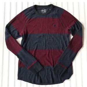 AEO Heritage classic fit long sleeve stripe shirt